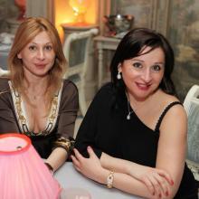 Karina Merabova with sister