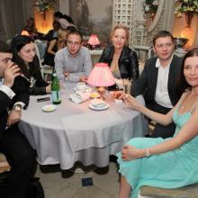 Maria,Alex and Katia Fechenko,Grigoriy Shkolnikov with friends
