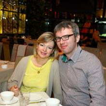 Michel Kagushev with wife