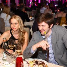 Dimitry Kliazechev with wife