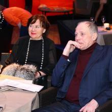 Maria Fedorova with husband