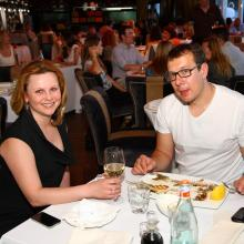 Polina Petuhova with husband