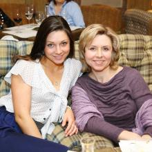 Larisa Pirogova with friend