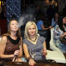 Julia Basova with friend