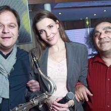 Anton Rumyantsev, Masha Tarasevich with Sergey Manukyan