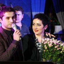 Lasha Churgulia with Eteri Beriashvili