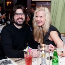 Ruslan Abdikeev with sister