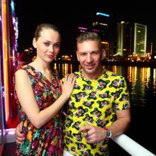 Ksenia Kolmikova with Alex Che