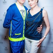 Sinisha Lazarevich with Maria Tarasevich