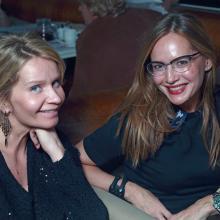 Olga Rayskaya with friend