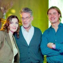 Masha Tarasevich with Artemiy Troitskiy and Kirill Grebenschikov