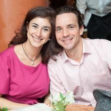 Denis Medvedev with wife