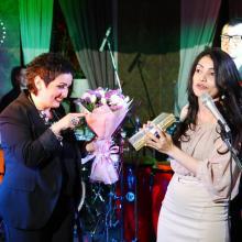 Eteri Beriashvili with Tamari Khutuashvili