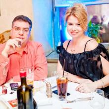 Irina Grigorieva with husband