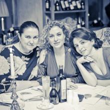 Julia Evdokimova with friends