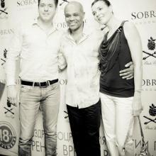 Bobby Harden with Masha Tarasevich and Alex Semin
