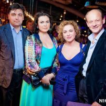 Julia Evdokimova with Konstantin Shapovalenko and friends