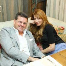 Konstantin Andrikopolos with wife