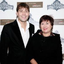 Daniil Fedorov with mother Maria