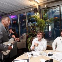 Alvon Jhonson with guests