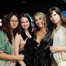 Veronika Danilova with friends
