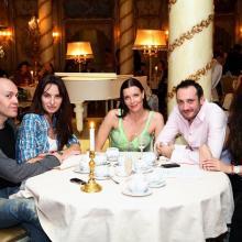 Sinisha Lazarevich with friend, Maria Tarasevich, Vlado Ostoich with wife.