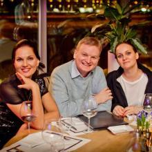 Nina Shatskaya with friends