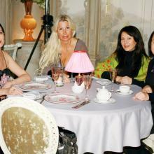 Maria, Elena Goncharova, Viktoriya Kopitonova with friend
