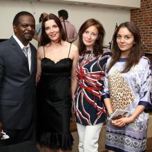 NICOLAS BEARDE, Masha Tarasevich, Olga Nesterova with daughter