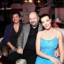 Галина и Алексей Гринберг с Марией Тарасевич