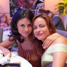Natalia Gornaeva with friend
